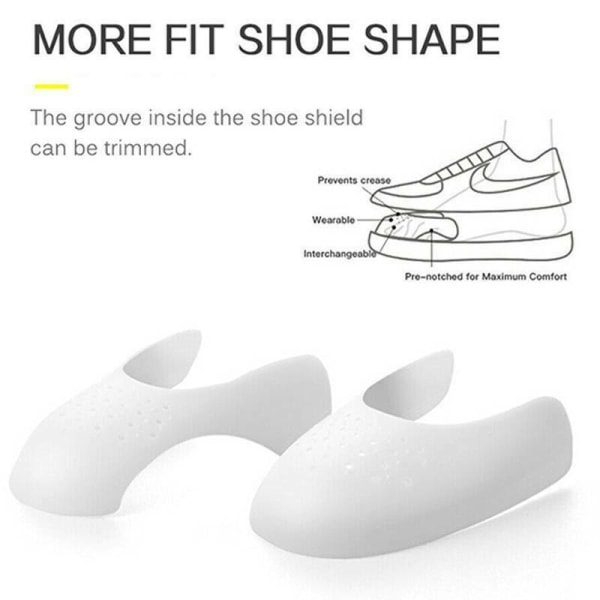 Anti Crease Sneaker Trainer Shields Decreaser Sko Skydd white 40-46