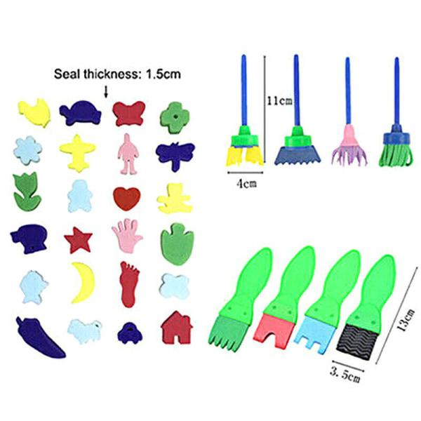 52st / set barn måla svamp målning pensel uppsättningar gåvor