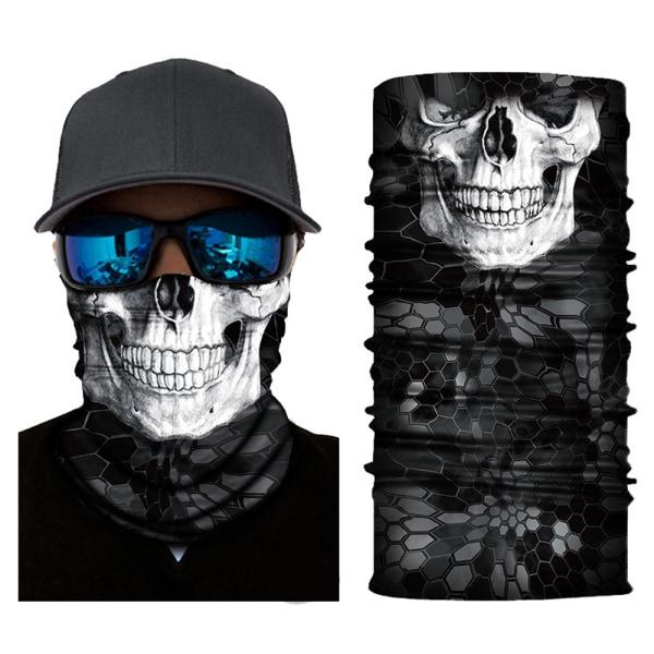 Skull Skeleton Biker Balaclava Neck Gaiter Tube Scarf Snood Mask 57