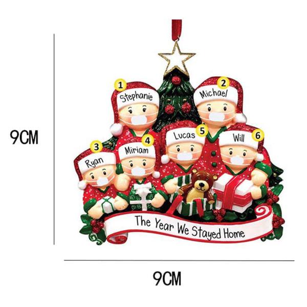Julprydnad Xmas Tree Family Santa Hanging Decor Presents 4 people