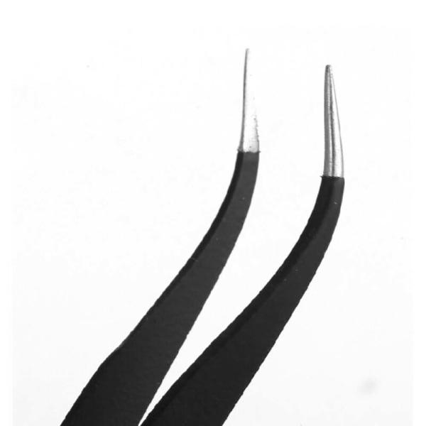 6st bestruket precisionspincettuppsättning rostfritt stål