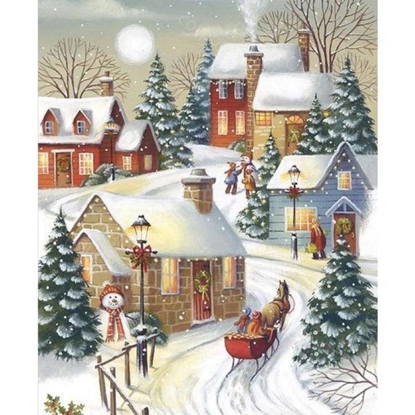 5D DIY Diamond Painting Christmas Snowman Home Art Decor C