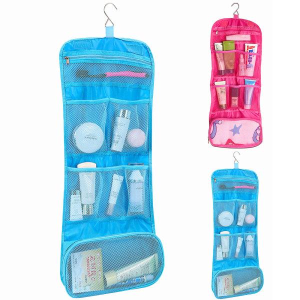 Lady Travel hängande tvättväska kosmetiska arrangör förvaringsväskor Rose Red