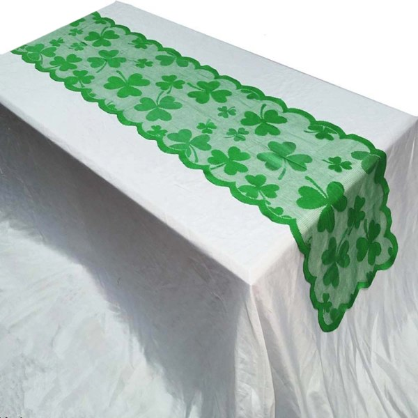 Saint Patricks Day Decor Clover Table Runner Duk Duk Placemat