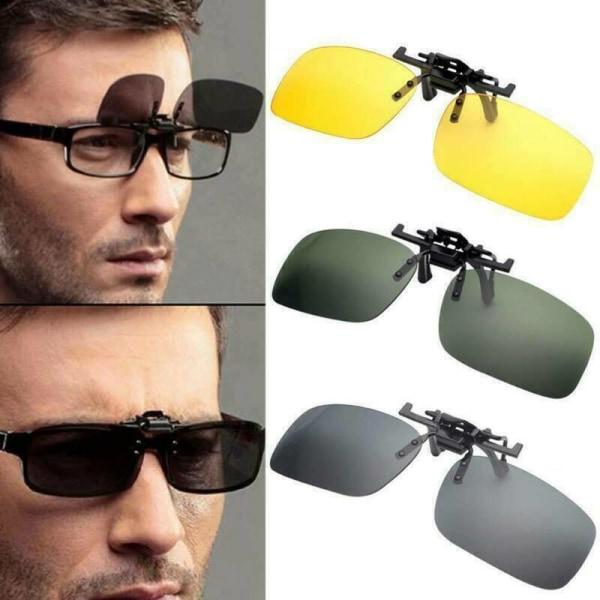 3-par Unisex Flip Up Clip Solglasögon skyddande glasögon Green 3pair