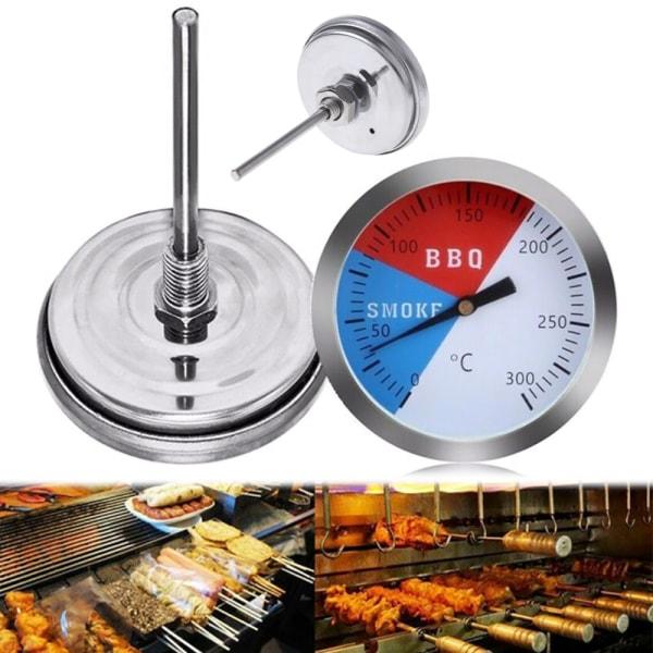 1 st 300 ℃ Stålgrillgrill Smoker Grill Termometer Gauge Tool