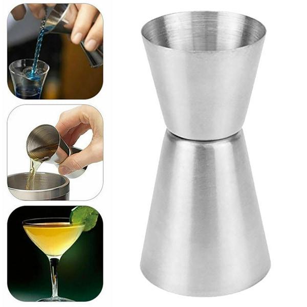 25 / 50ml rostfritt stål Mått Spirit Cocktaildrink koppar As pics
