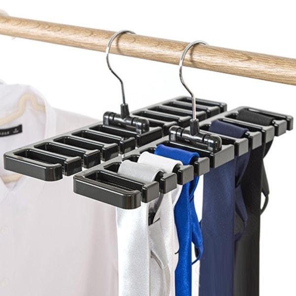 Closet Storage Rack Scarf Tie Belt Organizer Hanger Holder Shelf Black