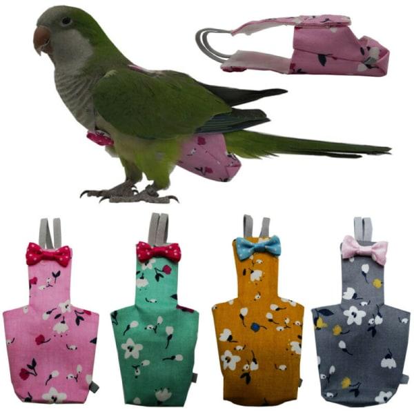 Bird Papegojor Blötduvor Mjuka Nappy Birds FLjus Kläder Suit Grey M