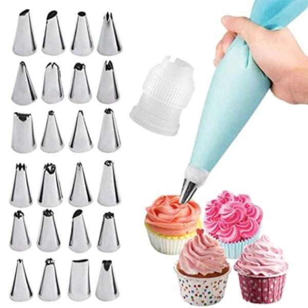 24 tyllset / spritdekorationsmunstycke Cream Baking Tool