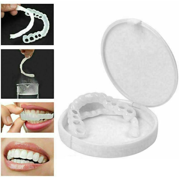 Säker silikonimitation täcker konstgjord tandöverdrag Håll leende