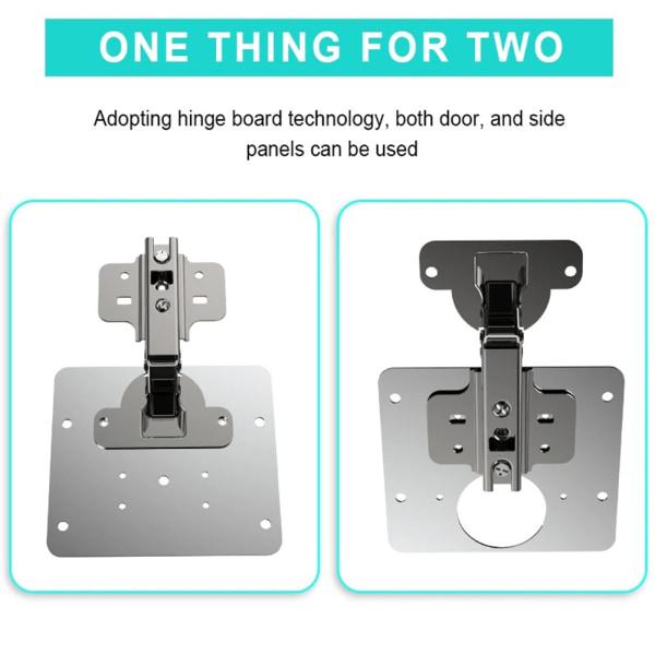 Skåps gångjärn reparationsplatta / gångjärns monteringsskruvar för sidoplåt 1 PCS