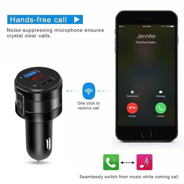 FM-sändare Trådlös Bluetooth 5.0 Car Fm Sändare