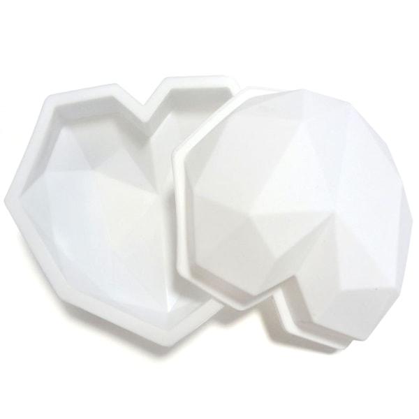 DIY 3D silikon hjärtformad kakform möjlig choklad