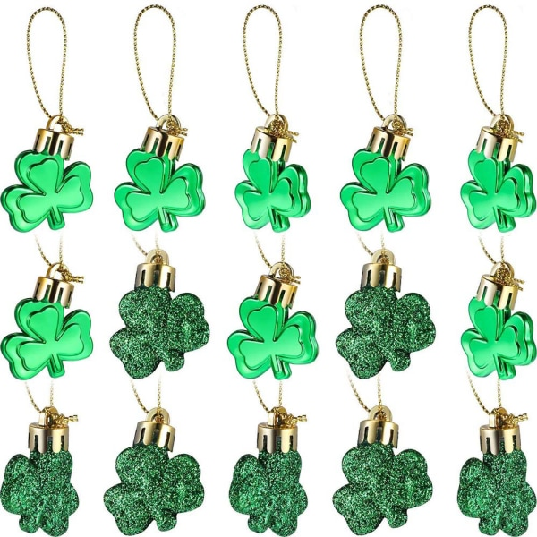 12st St Patrick's Day Good Luck Clover Table Festival Decor 12 Pcs