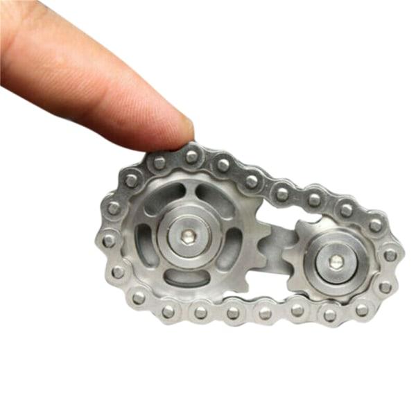EDC Kedjehjulskedjor Gyrokedjor med fingertopp rostfritt stål Silver