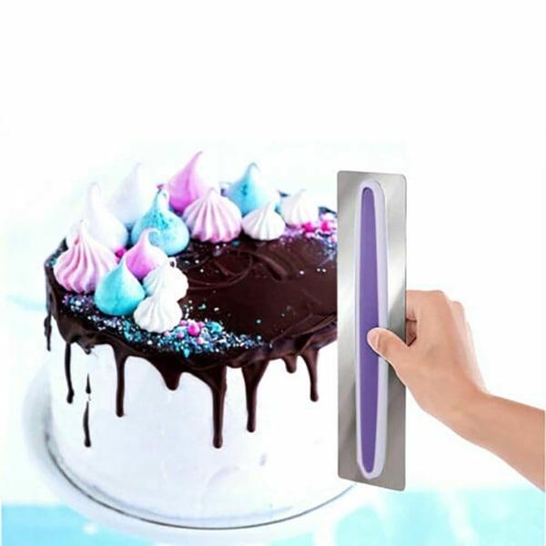 Cake Scraper Cream Edge mjukare mjölbakverk Bakning Dekorverktyg