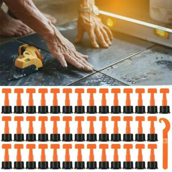 Golvväggskivanivelleringsnivå Verktygssats återanvändbar 100Pieces