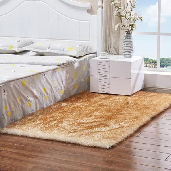 Fluffy Rugs Anti-Slid Area Rug Room Carpet Home Bedroom Sofa Matta dark pink 50*80cm