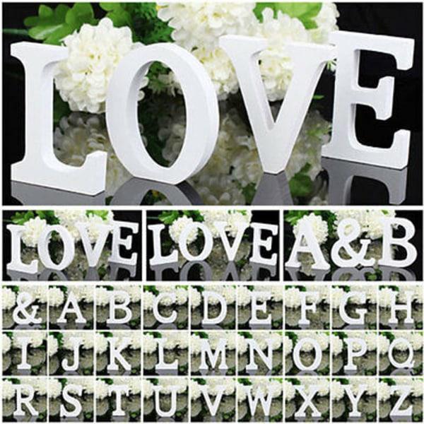 Heminredning trä alfabetet bokstäver vägg hängande bröllop M