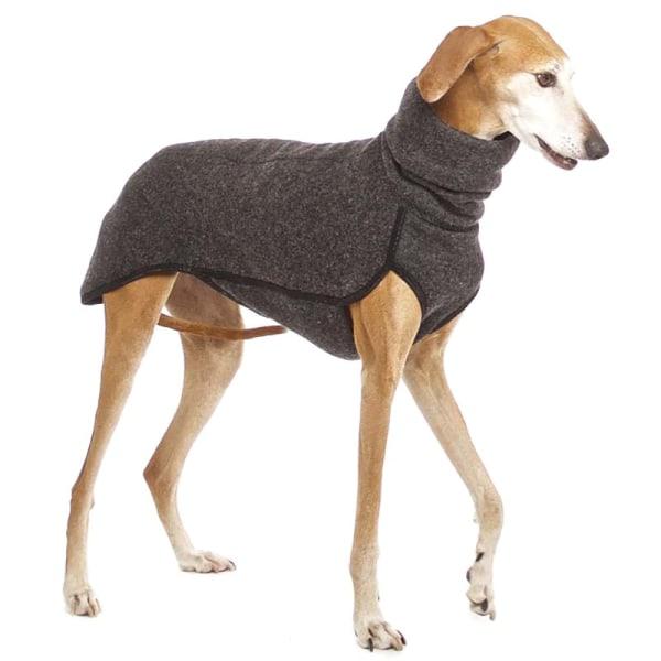 Hög krage Hundkläder Medium Stor husdjur Varm vinterrock Dark Grey M