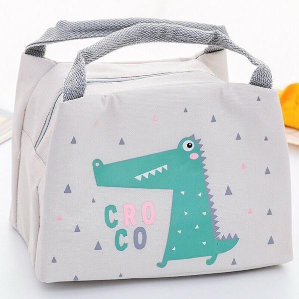 Barn Barn Tecknad Lunch Väska Box Och Dryck Flaska Set Crocodile