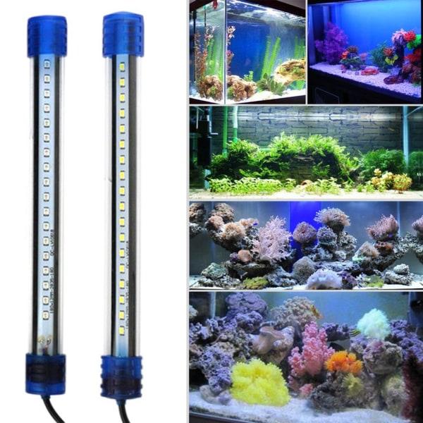 Vattentät Aquarium Fish Tank LED Ljus Bar Flerfärgad EU-kontakt White 50cm