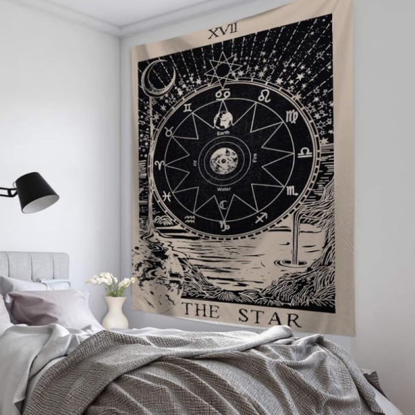 Vardagsrumsdekor Tarotkort Vägghängande affisch Tapestry Hot E E 95*73CM