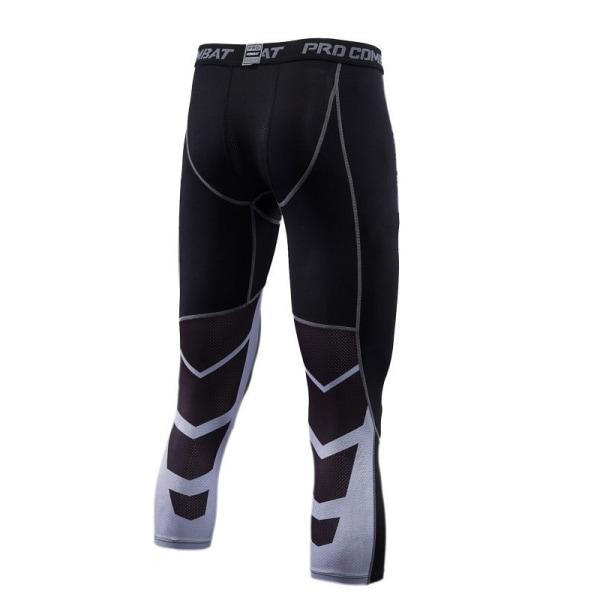 Gymnastikbyxor för män för män Kompression Snabbtorkande leggings Picture Color L