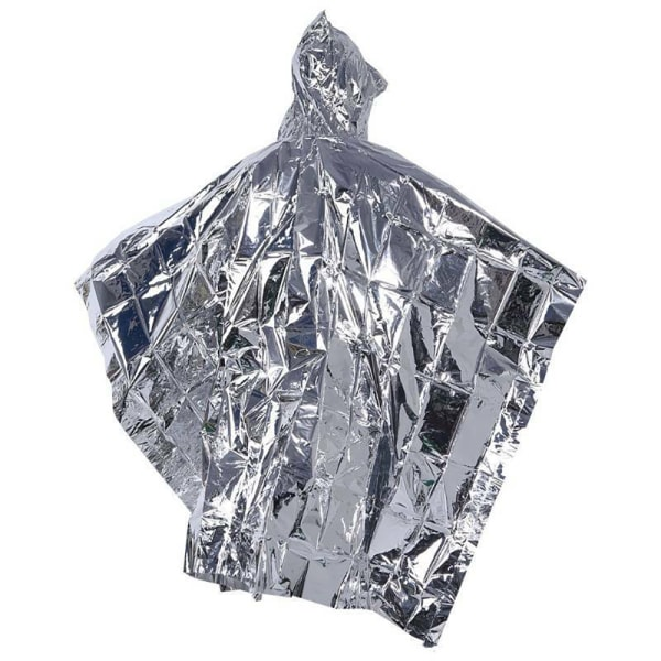 Utomhusöverlevnad Vattentät räddningsfilt Emergency Raincoat