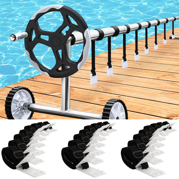 Pool Film Roller Attachment Straps Kit Swimming Pool Cover Reel