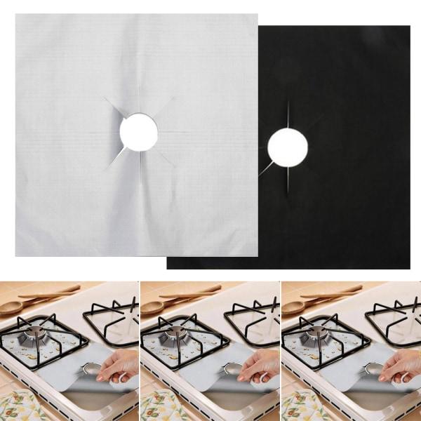 Återanvändbart köksskydd för gasspis utan lock för toppkokare black 1pcs