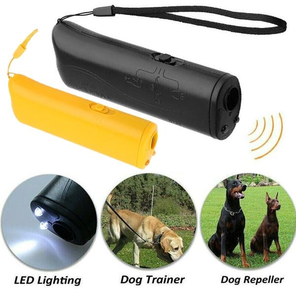 Dog Stop Barking LED Control Deterrent Training Tool Black