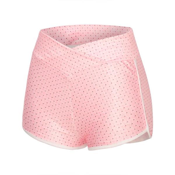 Kvinnor Ny hög midja Yoga Workout Hot Pants Sports Grey S