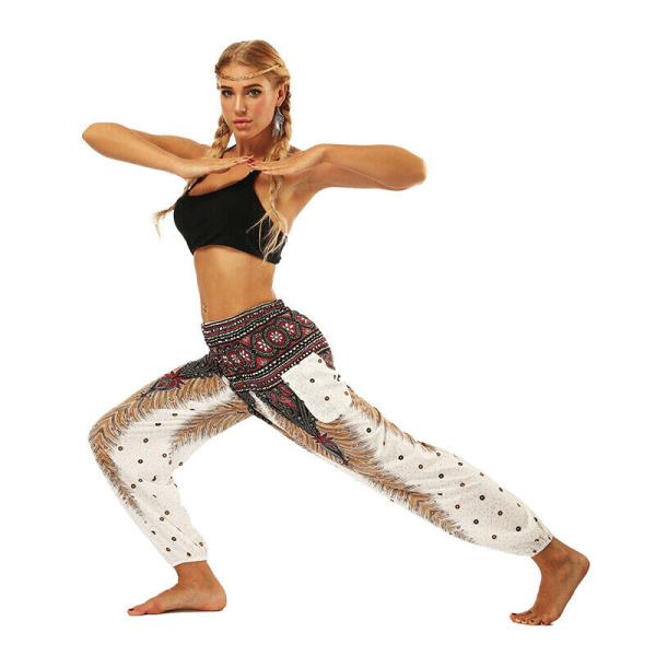 Kvinnor Yoga Harem Pants Väskagy Byxor Fitnessbyxor black