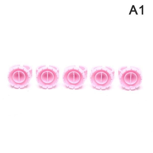 100st engångs v-form limringar Pink Round