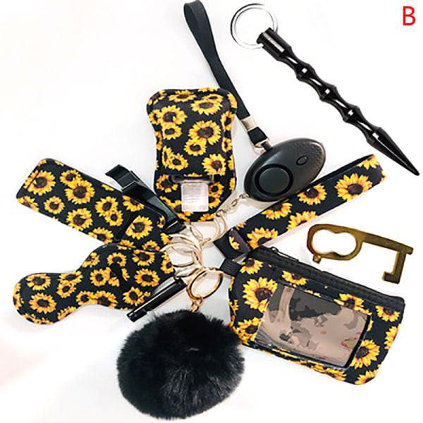 12 st larm personlig nyckelring set gåva B