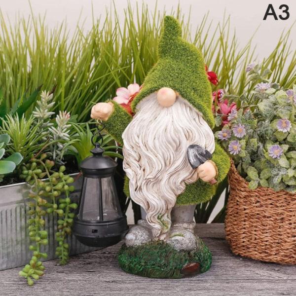 1 st spirng trädgårdsdekorationer trädgård dvärg staty-harts dvärg A3