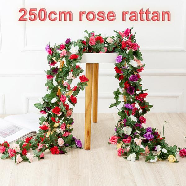 250cm ros konstgjorda blommor vackra krans bröllop hem roo D