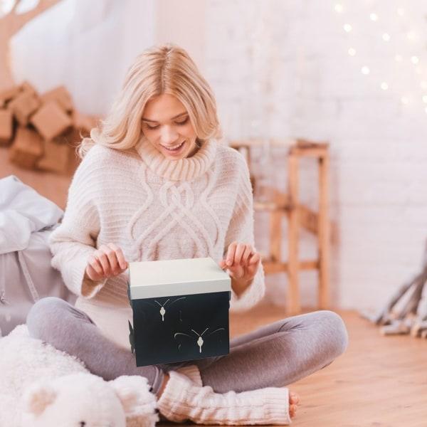 3 st fyrkantiga styva presentblomma presentförpackningar Pink