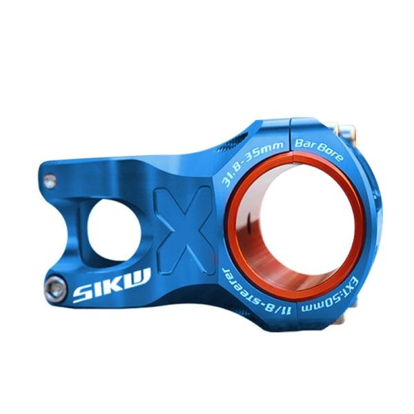 50mm spindel cnc 35mm 31,8mm styr cykel ultralätt 0 grader Blue