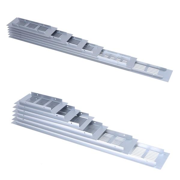 1 st aluminiumlegering ventiler perforerad plåt luftventilplatta ventil 50*200mm