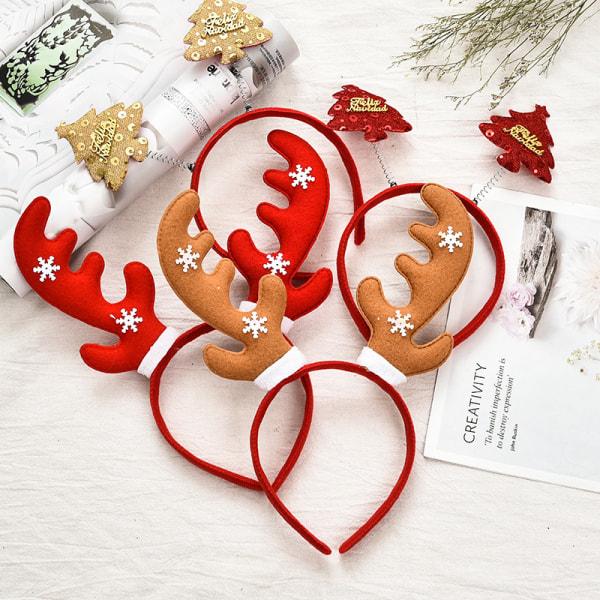 Julhuvudband Santa Tree Älvtorn Hairhoop Kid Vuxna H 013