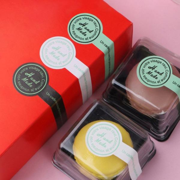 150st Handgjorda självhäftande självhäftande klistermärken för förpackningspresent onesize