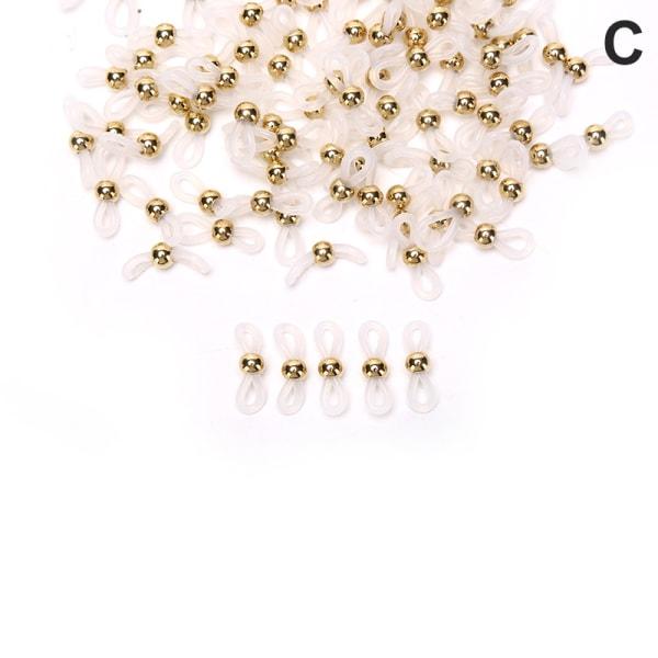 100st CCB -pärlor Glasögon Kedjehållare Ändar Rep Silikonsladd C