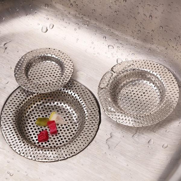 badrumsfilter i rostfritt stål i hål