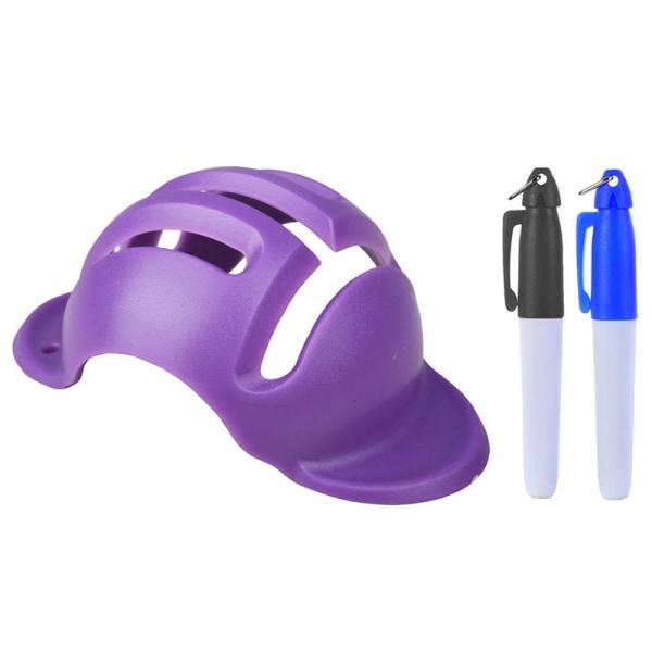 golfboll linjefoder bollmärkning justeringsverktyg golfbollpenna l Purple