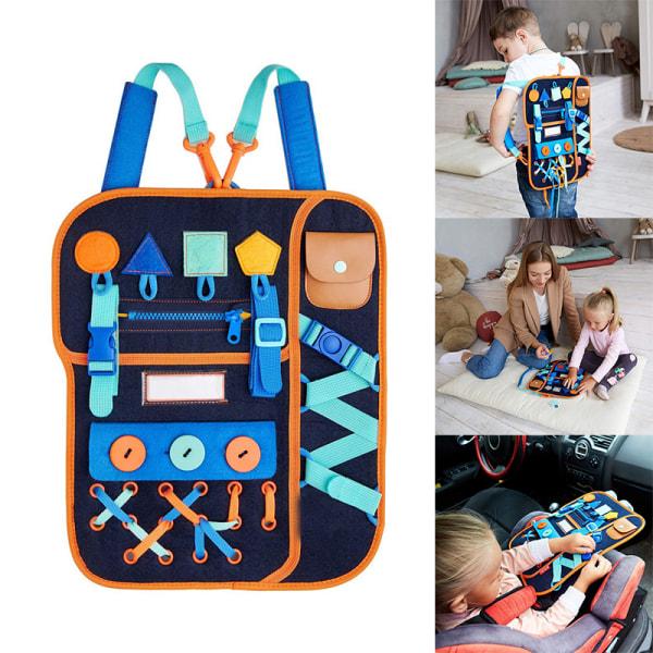 barn upptagen styrspänne 1-5 år gammal dragkedja snör upp verktyg leksak one size