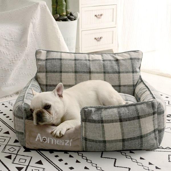 sällskapsdjur hund säng varm avtagbar för husdjur tvättbara hus soffa mattor ärm GM