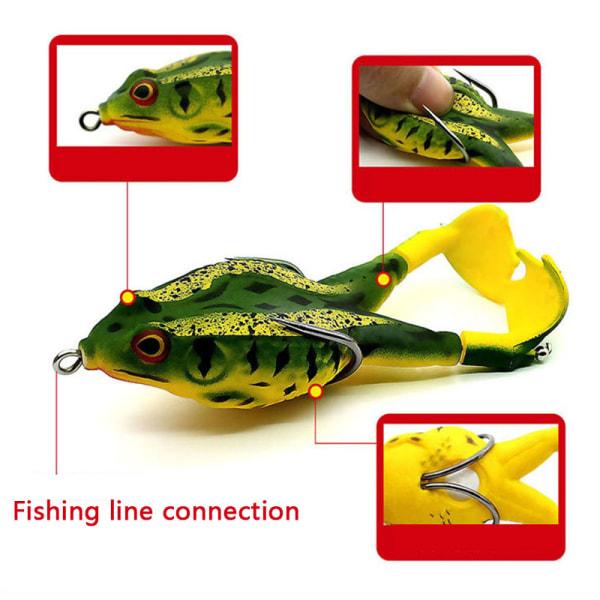 roterande ben åska groda fiske bete flytande bionisk mjuk lur